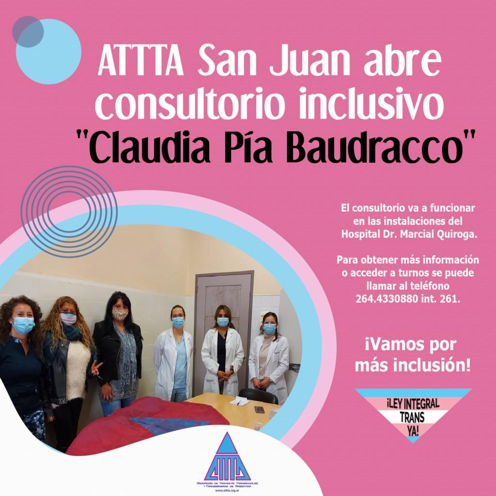 flyer INAUGURACIÓN CONSULTORIO INCLUSIVO ATTTA SAN JUAN
